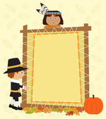 Thanksgiving Note — Stock Vector