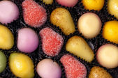 Primer plano de dulces de frutas de mazapán — Foto de Stock