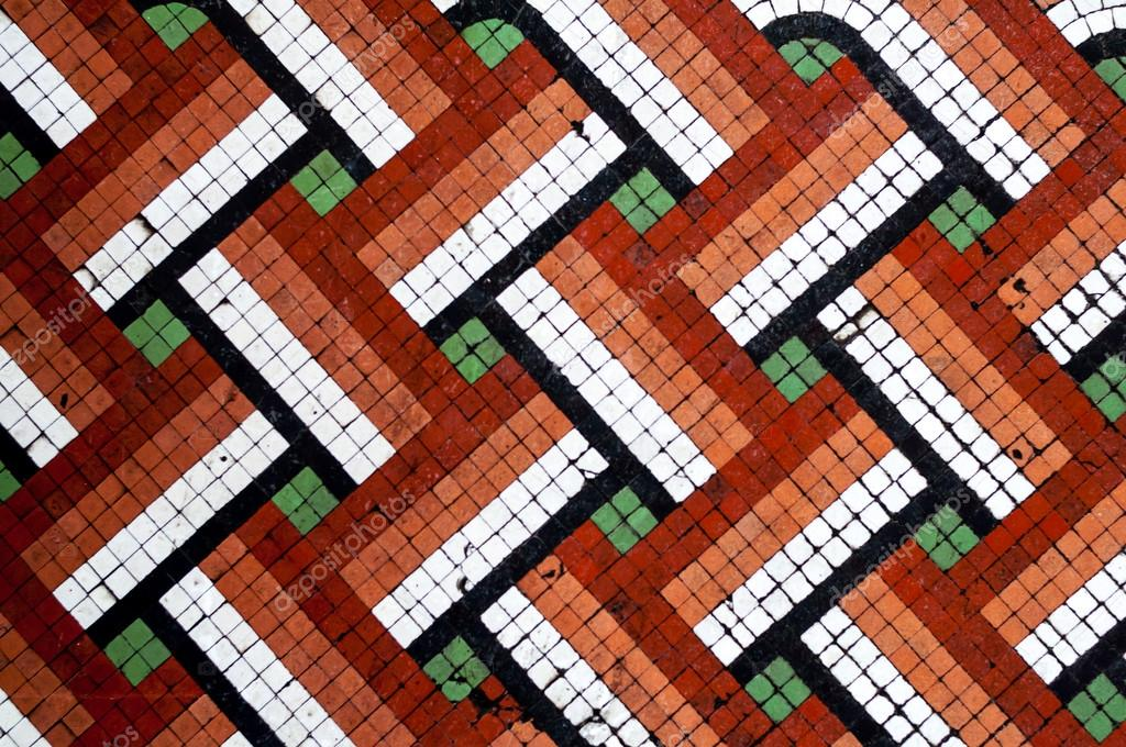 Floor tile mosaics