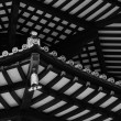 Black & White Japanese PagodRoof Beams — Stock Photo #32855171