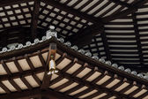 Japanese Pagoda Roof Beams — Stock Photo