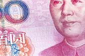 Macro 100 RMB — Stock Photo