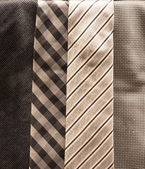 Collection of Silver Ties — Stock Photo