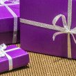 Foto Stock: Purple Presents
