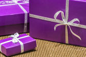 Purple Presents — Stock Photo