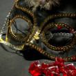 Sequin Masquerade Maske — Stock Photo