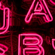 Pink Neon Letters (1) — Stock Photo