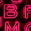 Pink Neon Letters (4) — Stock Photo