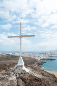 Cross with Las Palmas (1) — Stock Photo
