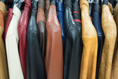 Different Leather Jackets — Stock Photo