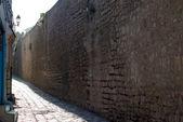 Oude stad muur steegje (1) — Stockfoto