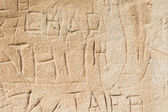 Ancient Graffiti — Stock Photo