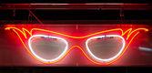 Neon Specs Sign — Stock Photo