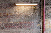 Brick Wall with Strip Light (2) — Photo