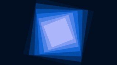 Roterende blauwe vierkantjes — Stockvideo