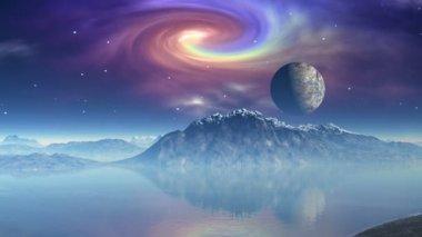 Fantastic planet — Stock Video