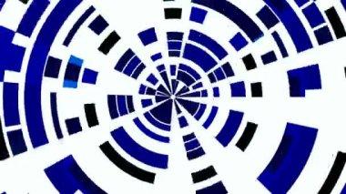 Dark blue circles from fragments. Wheel. — Stock Video