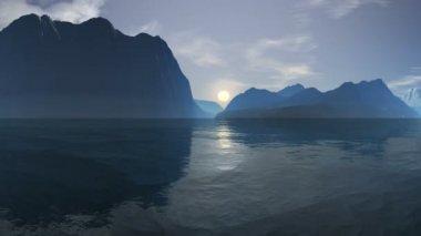 Sunrise over the sea cliffs — Stock Video