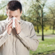 Msuffering from flu or allergy — Stock Photo #28756933