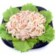 Fresh salad with mayonnaise - Stok fotoğraf