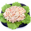 Fresh salad with mayonnaise - Stock Photo