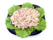Fresh salad with mayonnaise — Stock Photo