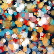 Bright colorful bokeh light effect background — Stock Photo