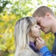Young couple in love looking at each other — Stockfoto