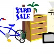 Yard Sale — Stock Vector