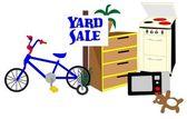 Yard Sale — Stock Vector