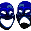 Stock Vector: Comedy masks