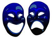 Comedy masks — Stock Vector