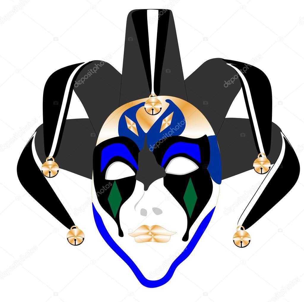 法院小丑面具 — 图库矢量图像08 deeboldrick