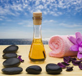 Oil stones for a Spa procedures — Stock Photo