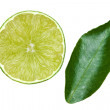 Stock Photo: Mint with piece of lime