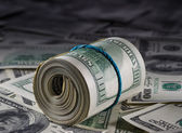 Rolled money — Stockfoto