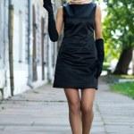 Beautiful girl in the image of Audrey Hepburn — Stock Photo