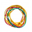 Colored rubber bands on a white background - Stock Photo