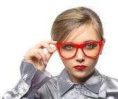 Junges mädchen mit der brille — Stockfoto