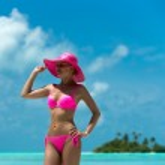 Woman on a beach at Maldives — Stock Photo #26215651