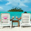 Relaxing by the sea — Stock Photo