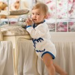 Baby girl  in the nursery — Stock Photo