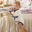 Baby girl  in the nursery — Foto Stock