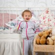 Fun baby in the nursery — Stock fotografie