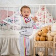 Fun baby in the nursery — Stock Photo