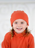 Child in the red hat — Stock Photo