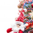 Christmas background with balls and decorations — Stockfoto
