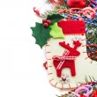 Christmas background with balls and decorations — Stock Photo