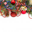 Stock Photo: Christmas background with balls and decorations