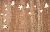 Christmas Decoration Over Wooden Background — Zdjęcie stockowe